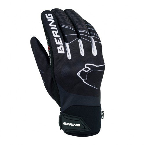 Bering SOM - Guantes para moto, color negro, talla T10