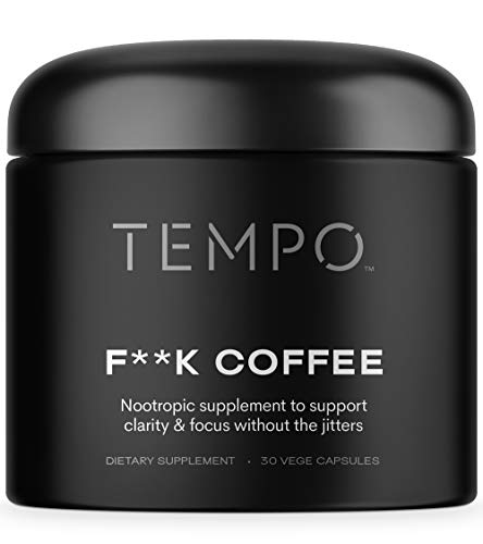 TEMPO F*ck Coffee Nootropics Brain Support Supplement (30ct) | Enhance Memory, Focus, & Energy w/ Coffee Alternative Focus Pills, Effective Memory Supplement for Brain, Natural Brain Booster