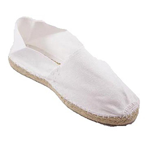 Alpargatas de Esparto Plana Made in Spain en Blanco Talla 45