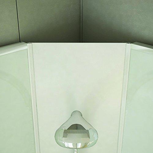 DUSAR Komplettdusche Fertigdusche Astoria 80 cm, 195 cm hoch Duschkabine Eckdusche Eckeinstieg mit vier Wänden rundum geschlossen komplett Dusche - 8
