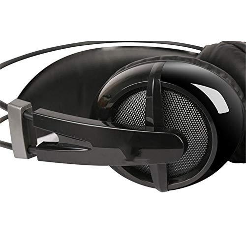 ZzheHou Casque De Jeu USB 7.1 Virtual Surround Lumière rétrodiffusion Technologie Gaming Micro Casque Léger Et Confortable (Color : Black, Size : M)