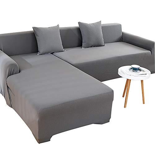 HOME-SOFA Wasserdicht Surefit Stretch Sofaüberzugfür Ledersofa Universal Sofabezug rutschfest Gestrickt Sofaüberwürfe Mit Anti-rutsch-Schaum Und Elastischem Boden
