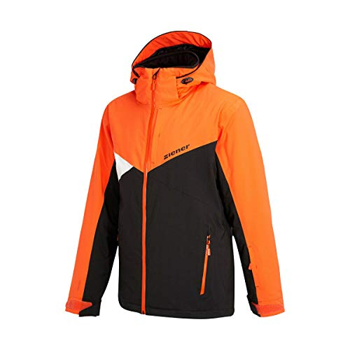 Ziener TOJA JUNIOR Kinder Skijacke Snowboardjacke Teamwear 20k DERMIZAX 184922 Black hb orange