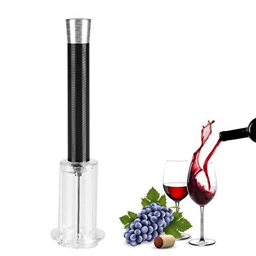 Sacacorchos Vino Garosa, Vino Bomba Neumática Sacacorchos Extractor Corco Sacacorchos Herramienta Extractor de Corcho Sacacorchos Simple (Negro)