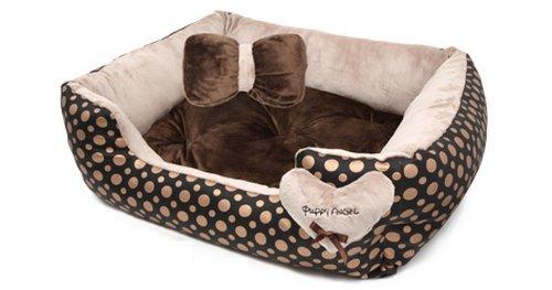 Puppy Angel Panier Faux Leather Doré Taille S