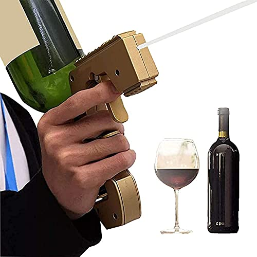 WFSH Rociador de Pistola de champán Burbuja Pistola de champán Tamaño del tapón de Botella Tamaño de Cerveza embotellado Ajustable Adecuado para Fiestas Clubs Barras de celebración de cumpleaños