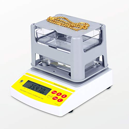 MaquiGra Densímetro Upgrade Digital Inteligente para Laboratorio Alta Precisión Medidor Eléctrico de Densidad para Sólido Multifuncional y Automático Muestra el Valor de K, PT,% (300g)