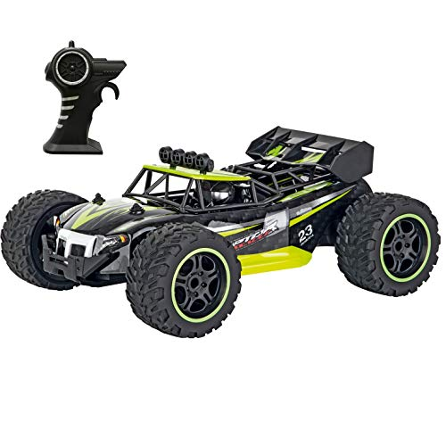 Carrera RC 160014 Green Buggy 2.4 Ghz Radio Remote Control Car Vehicle with Full Function Steering 1:16 Scale (370160014)