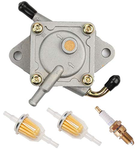 Podoy Club Car Fuel Pump for Compatible with Gas Golf Cart Tune Up Kit with Fuel Filter Spark Plug DS Precedent from 1984 to Present 290FE 350FE Compatible with Kawasaki Engine 1014523