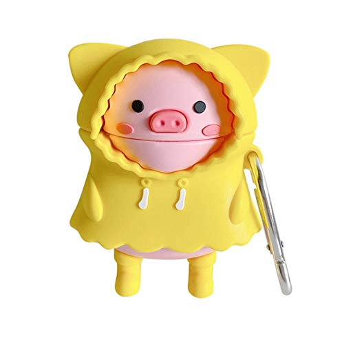 3D Cute Cartoon Raincoat Sunny Pig Earphone Soft case for Apple airpods 2 1 airpods pro 3 Wireless Headset Cover for airpods 1