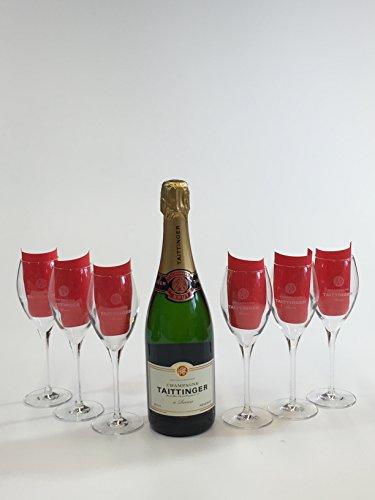 Taittinger Set ? Taittinger Champagne 750ml (12% Vol) + 6 Champagner Gläser