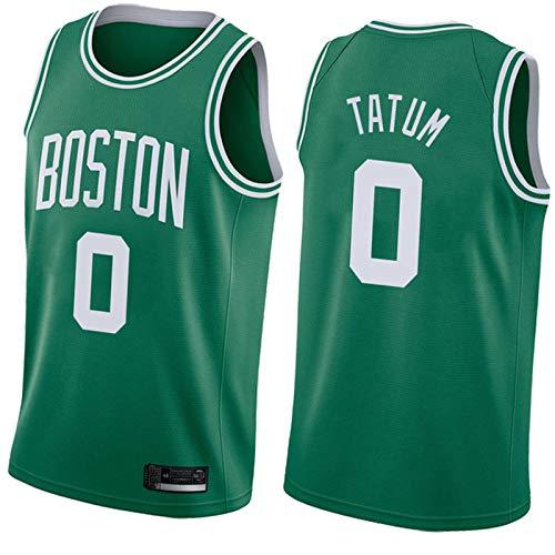 WXZB Camiseta de baloncesto Celtics 0# Tatum, retro, camiseta de baloncesto, Hip Hop, camiseta de baloncesto, puede sudar rápidamente green2-L