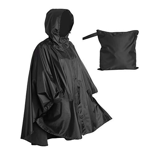 Lingito Poncho de lluvia resistente, poncho para mochileros, ponchos de lluvia ligeros impermeables para adultos, poncho militar como poncho de lluvia de emergencia, poncho de...