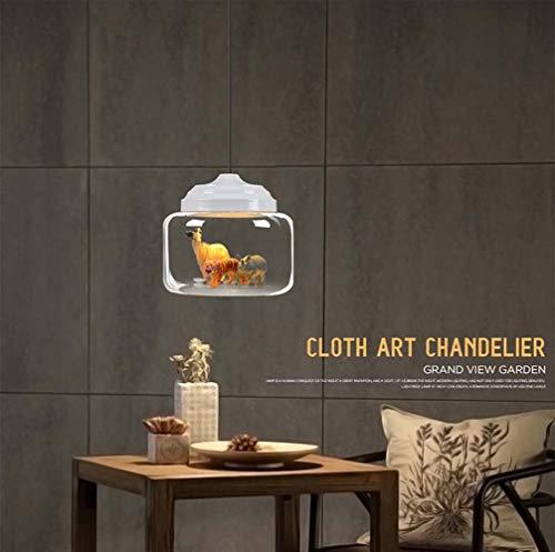Creatieve lamp voor restaurant, Scandinavisch, glas, café, tuin, kinderen, studio, persoonlijkheid, creatieve tekeningen met dierenmotieven (met inbegrip van dieren toevallig 3) kandelaar