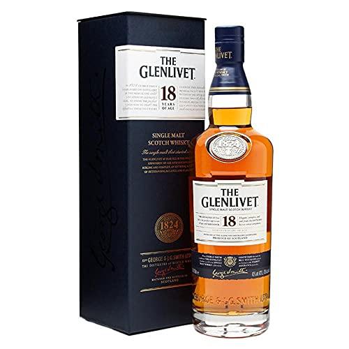 The Glenlivet Ecosse Single Malt Whisky en Bouteille 18 Ans...