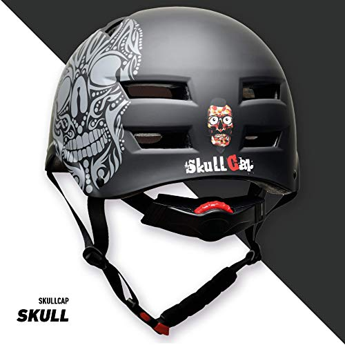 Skullcap® BMX Helm – Skaterhelm – Fahrradhelm – Totenkopf Helm – Herren Damen Jungs & Kinderhelm, schwarz, Gr. L (58 – 61 cm), Skull - 7