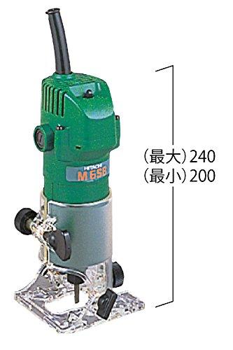 HiKOKI(ハイコーキ)旧日立工機トリマー軸径6mm45゜傾斜可能スピンドルロック付M6SB