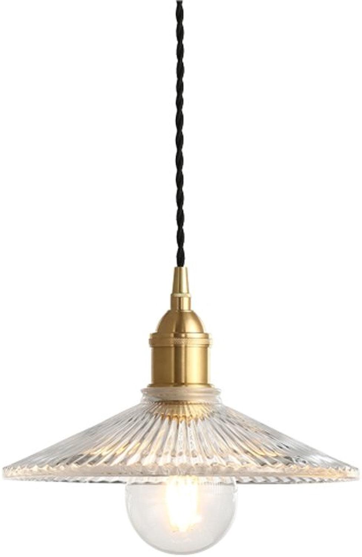 Hines Moderne Simplicité 1-lumière Transparent Plafond En Verre Pendentif Lumière Incroyable E27 Réglable Restaurant Cuisine Bar Décoration Pendentif Lampe Lustre Luminaire