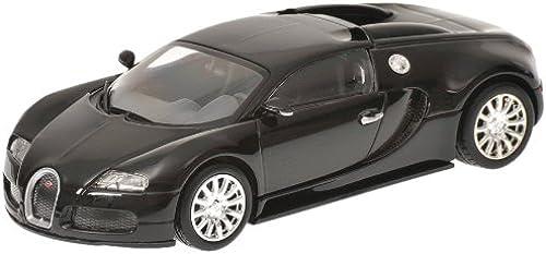Minichamps 400110821 - Bugatti Veyron, Ma ab  1 43, metallic Schwarz