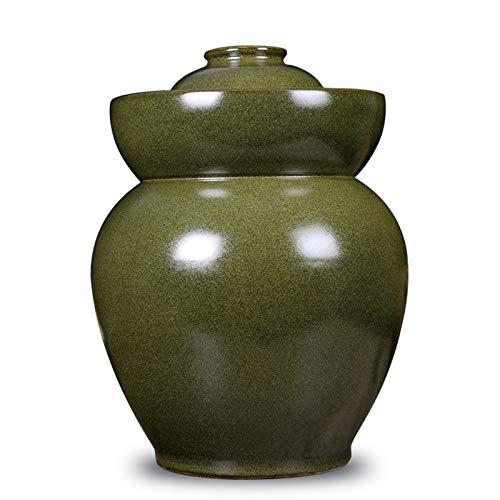 Recipiente porcelana decapado, olla kimchi con tapa, tarro de cerámica almacenamiento alimentos, lata de alimentos fermentados domésticos para hacer, patas de pollo, chucrut y otros