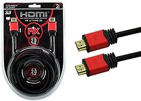 Cabo HDMI 2.0 4K HDR 19P 2M Pix Premium, Preto