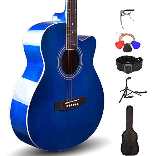 Kadence Frontier Series, Acoustic Guitar With/Wihtout EQ Die Cast Keys (Blue, Acoustic Super Combo)