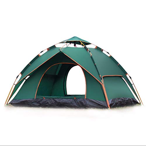 Wsaman 2-3 Personas Tienda de Campaña Portátil, Pop Up Tienda Instantánea Carpa de Refugio de Sol Protección UV, Fácil Montaje para Senderismo Playa Picnic Rain Tarp Beach Tent,Verde