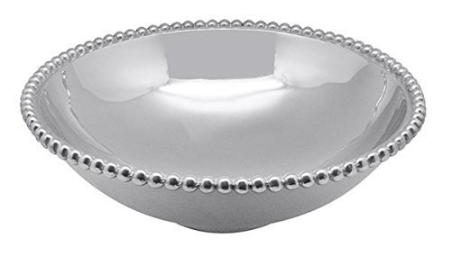 Mariposa Pearled Large Serving Bowl, One Size, Silver
