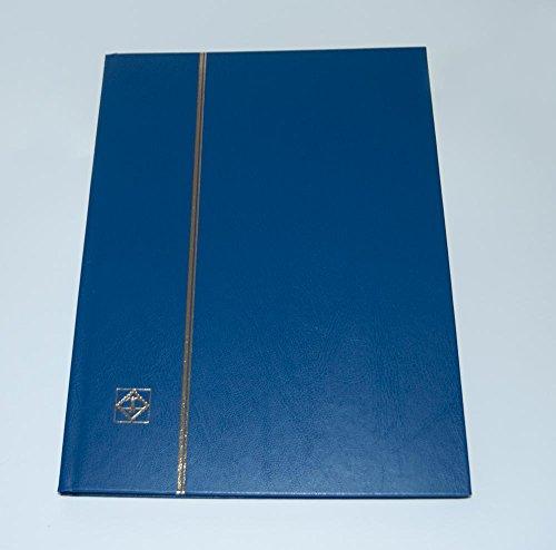 Leuchtturm 335982 Ordner DIN A4, 16 Seiten schwarz, ungepolsterter Deckel, blau