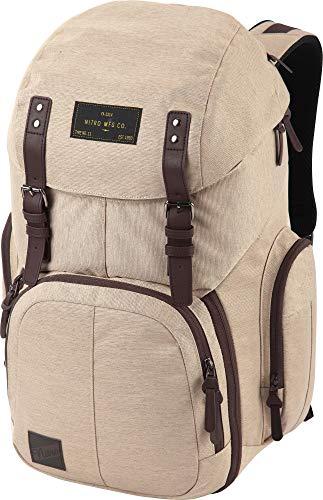 Weekender Alltagsrucksack mit gepolstertem Laptopfach, Schulrucksack, Wanderrucksack inkl. Nassfach, 42 L, Almond
