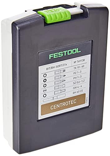 Festool BIT/BH-SORT/31x 769138 Bit Cassette, Multi-Colour, 1/4 Inch