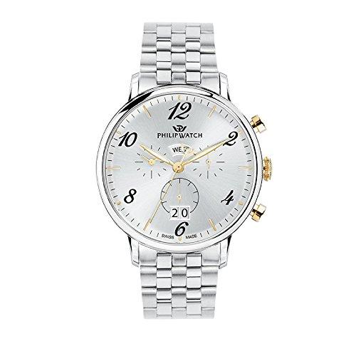 Philip Watch Orologio Uomo, Collezione Truman, Analogico, Cronografo, Quarzo - R8273695002