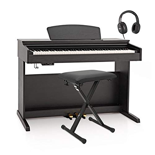 DP-10X Pianoforte Digitale Gear4music + Pacchetto Accessori Nero Opaco