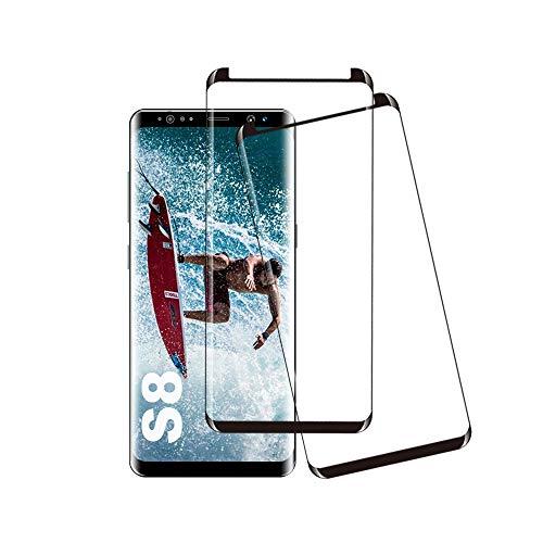 Galaxy S8 Panzerglas Schutzfolie, [2 Stück] Hohe Qualität Gehärtetem Glass [HD Clear] [Blasenfrei] [9H Härte] [Anti-Kratzer] [Case Friendly] Panzerglasfolie für Samsung Galaxy S8