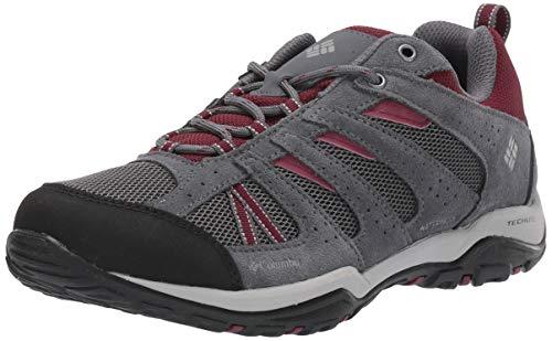 Columbia Women's Dakota Drifter Waterproof Hiking Shoe, Graphite, Rich Wine, 8 Regular US