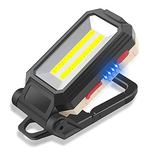 Linterna de Trabajo, Reflector LED de 10 W Linterna Taller LED, USB Recargable Portátil Lámpara de Trabajo con Ba se Magnética y Gancho para Reparación de Automóviles,Iluminación de Emergencia