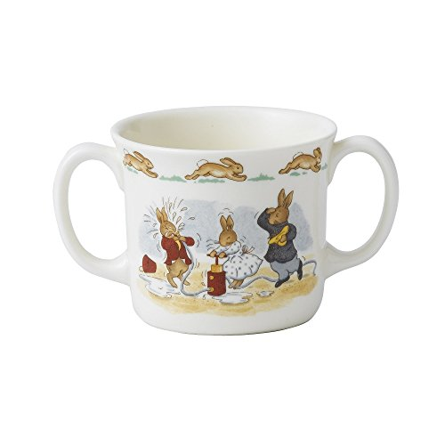 Royal Doulton Bunnykins - Tazza con 2 manici Hug-A, in porcellana fine, multicolore, 10 cm