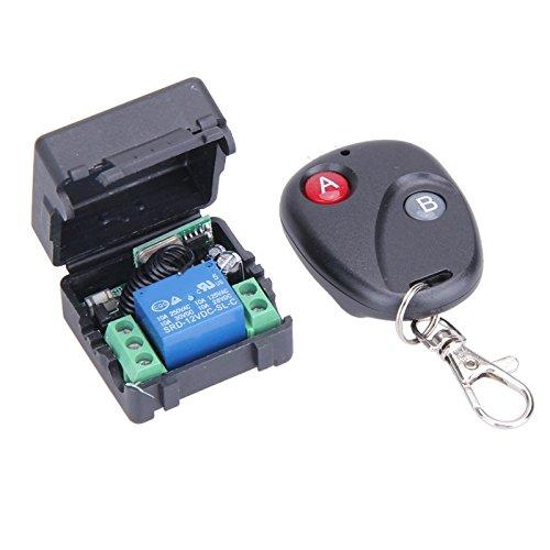 WOVELOT Interruptor De Control Remoto InaláMbrico Universal DC 12V 10A 433mhz Telecomando Transmisor con Receptor para Sistema De Alarma Antirrobo