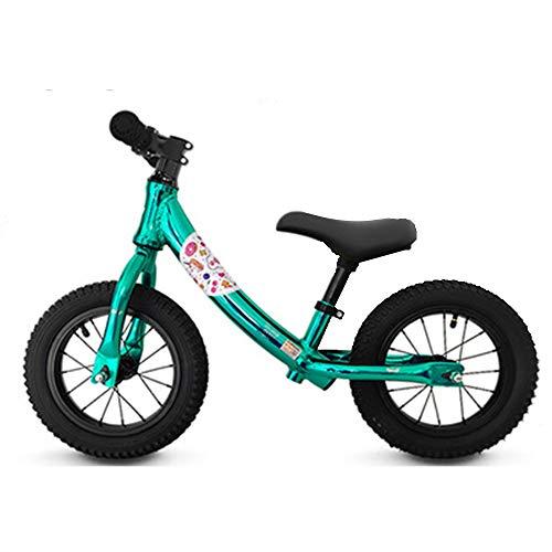YumEIGE Loopfiets voor kinderen, aluminiumlegering, geschikt voor lichaamslengte 31,4-51,1 inch, kinderloopfiets 2-6 jaar oud, gewicht 30 kg groen