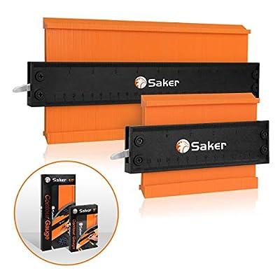 Saker Contour Duplication Gauge-Adjustable Lock -Precisely Copy Irregular Shape Duplicator -Irregular Welding Woodworking Tracing(10 Inch+5 Inch) from Brilliant Smart