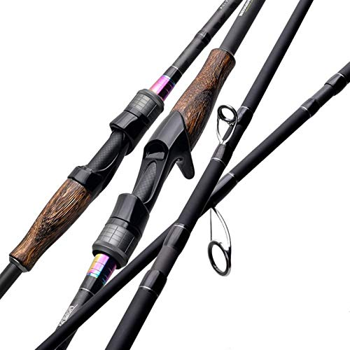 BMYONG Cañas de Pescar Alta sensibilidad de 2 Piezas Superior o Multi-sección de Hilado y de Colada alimentador caña de Pescar (Color : 2.1m 2 Spinning Rods)