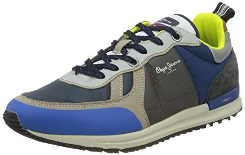 Pepe Jeans London Herren Tinker PRO SUP Sneaker, Blau (Bright Blue 545), 46 EU