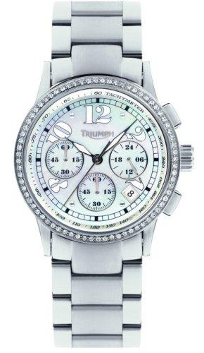 Triumph 5014-22 - Reloj de Mujer de Cuarzo, Correa de Acero Inoxidable Color Plata