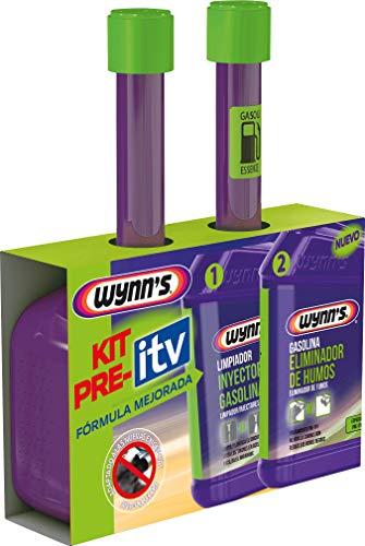 Wynn's 18483 Pack Pre-ITV Gasolina, Tratamiento coche ITV, Reductor Humos, Fabricado en Bélgica, Aditivos, 2u. x 325ml
