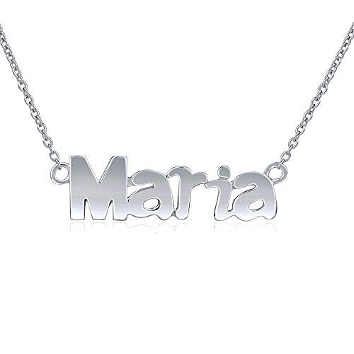 SILVEGO Collar con Nombre Maria Plata de Ley 925