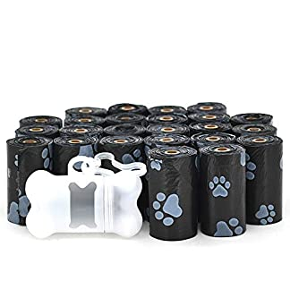 Best Pet Supplies Dog Poop Bags for Waste Refuse Cleanup, Doggy Roll Replacements for Outdoor Puppy Walking and Travel, Leak Proof and Tear Resistant, Thick Plastic - Black, 360 Bags (BK-360C) 16