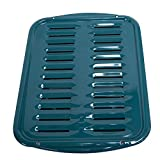 Range Kleen Teal Porcelain Broiler Pan & Grill 13x16'