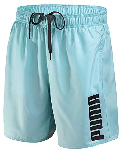 PUMA Herren Badehose Badeshorts Summer Deluxe Swim Shorts - New Angel Blue - Gr. L