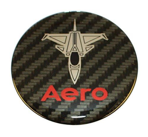 Emblema para Volante SAAB Jet Aero de 32 mm, Color Rojo y Cromo Rojo