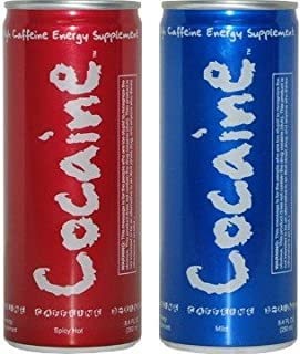 6 - 12oz Cans of Your Weekend Energy Drinks (Cocaine Energy Drink 2 Flavor Combo)